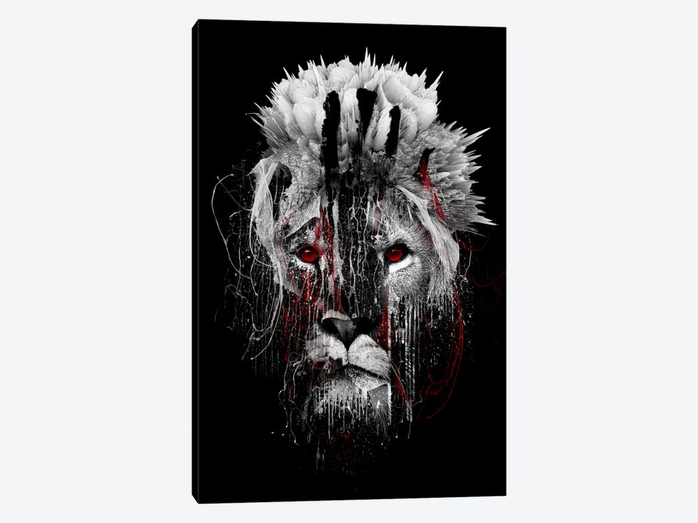Red-Eyed Lion by Riza Peker 1-piece Canvas Artwork