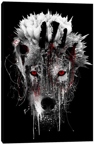 Red-Eyed Wolf Canvas Art Print