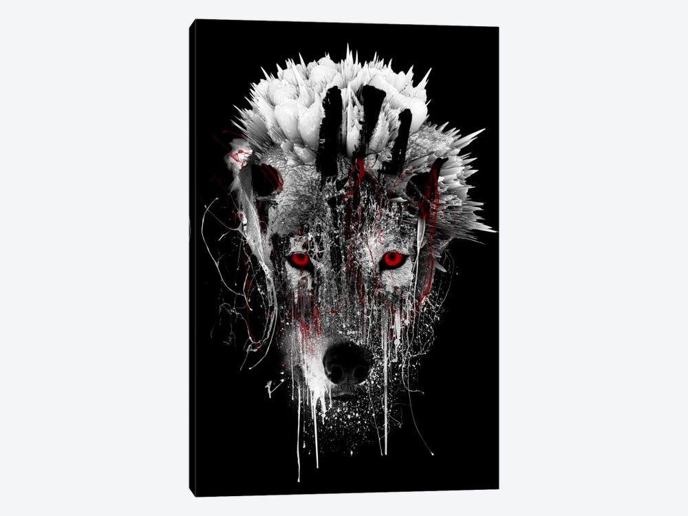 Red-Eyed Wolf by Riza Peker 1-piece Canvas Artwork