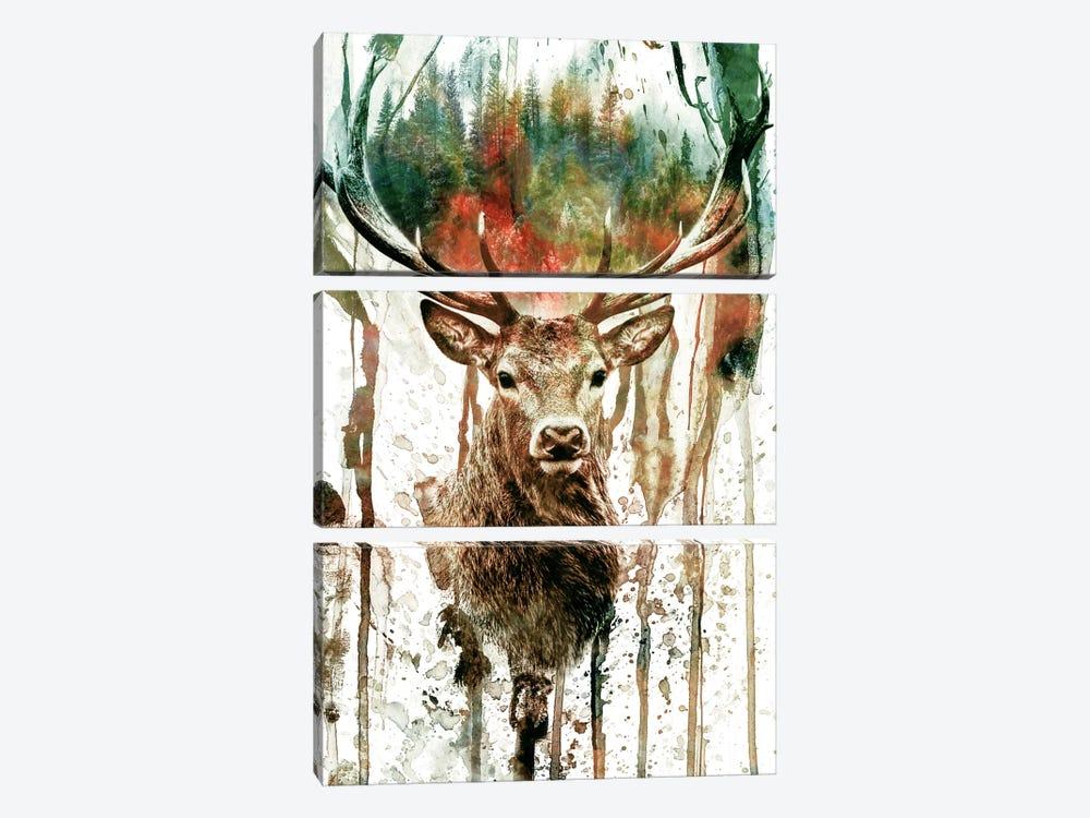 Deer I by Riza Peker 3-piece Art Print
