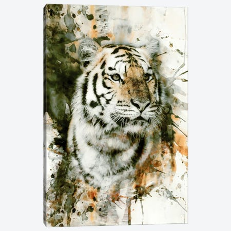 Tiger I Canvas Print #PEK63} by Riza Peker Canvas Wall Art