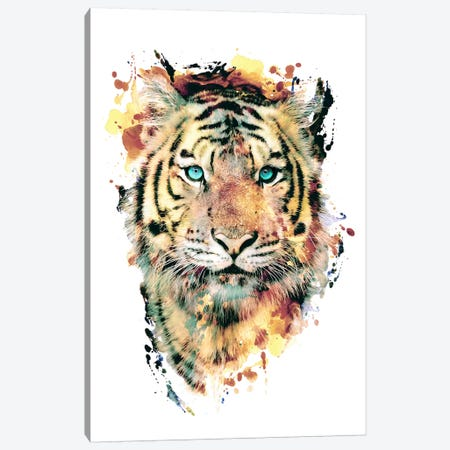Tiger III Canvas Print #PEK65} by Riza Peker Canvas Art Print