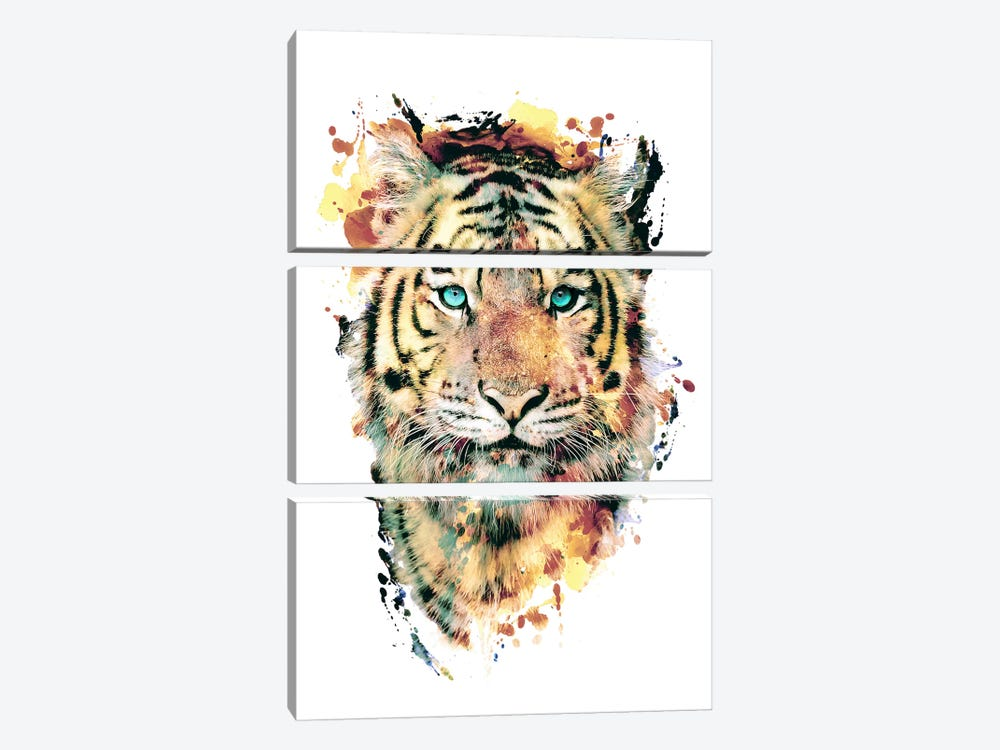 Tiger III by Riza Peker 3-piece Canvas Artwork