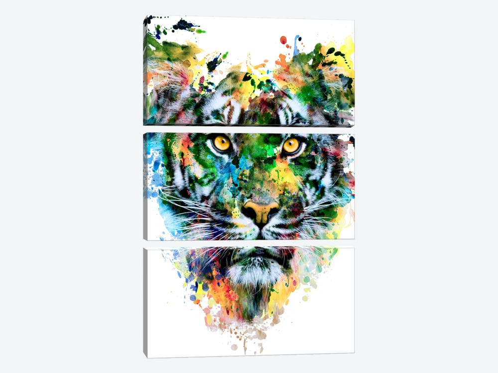 Tiger IV by Riza Peker 3-piece Canvas Art Print