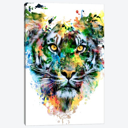 Tiger IV 3-Piece Canvas #PEK66} by Riza Peker Canvas Print