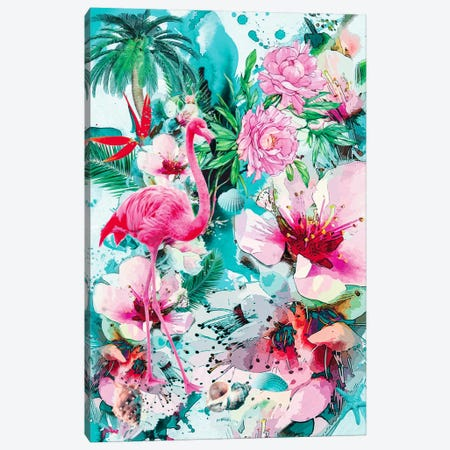 Tropical Life Canvas Print #PEK68} by Riza Peker Canvas Wall Art