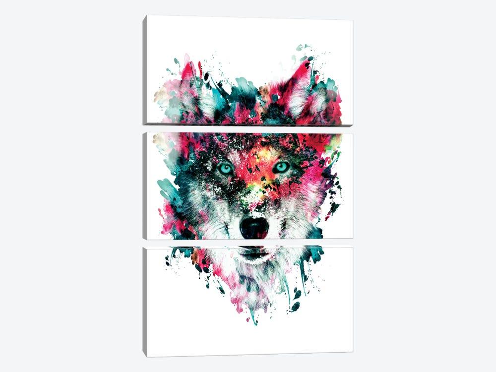 Wolf II by Riza Peker 3-piece Canvas Art