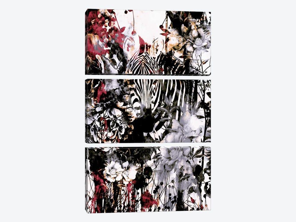 Zebra by Riza Peker 3-piece Canvas Print
