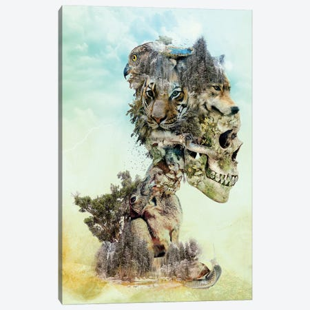 Nature Skull Canvas Print #PEK74} by Riza Peker Canvas Art
