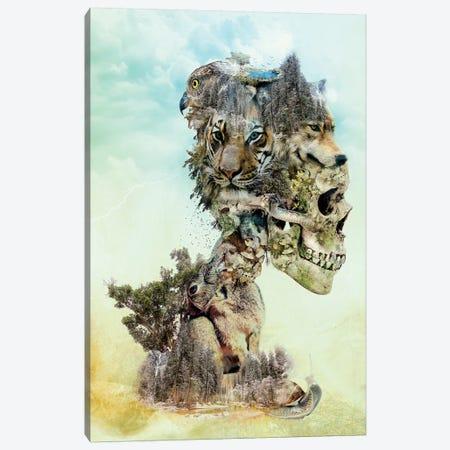 Nature Skull Canvas Print #PEK74} by Riza Peker Canvas Art