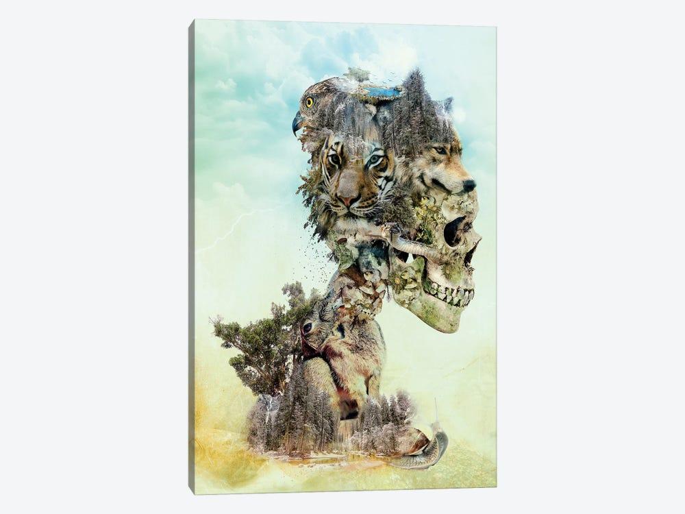 Nature Skull by Riza Peker 1-piece Canvas Artwork