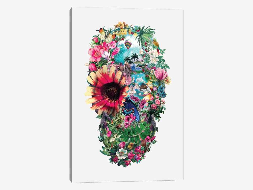 Summer Skull II by Riza Peker 1-piece Canvas Artwork