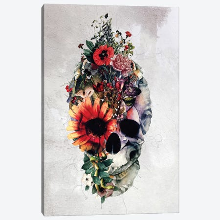 Two Face Skull Canvas Print #PEK79} by Riza Peker Canvas Print