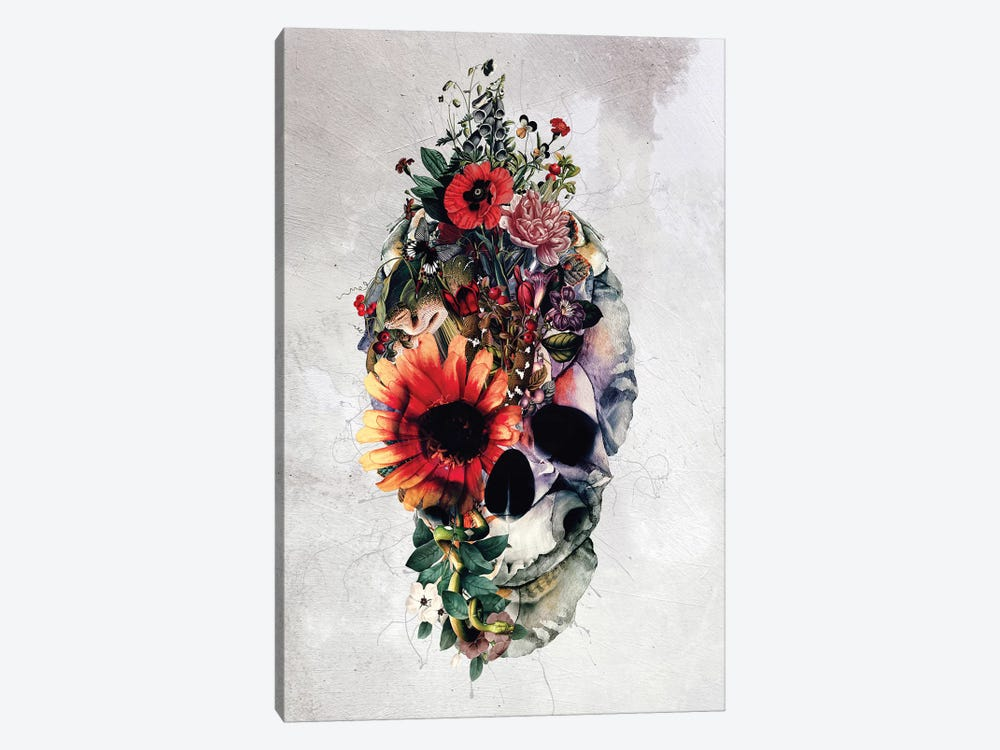 Two Face Skull by Riza Peker 1-piece Art Print