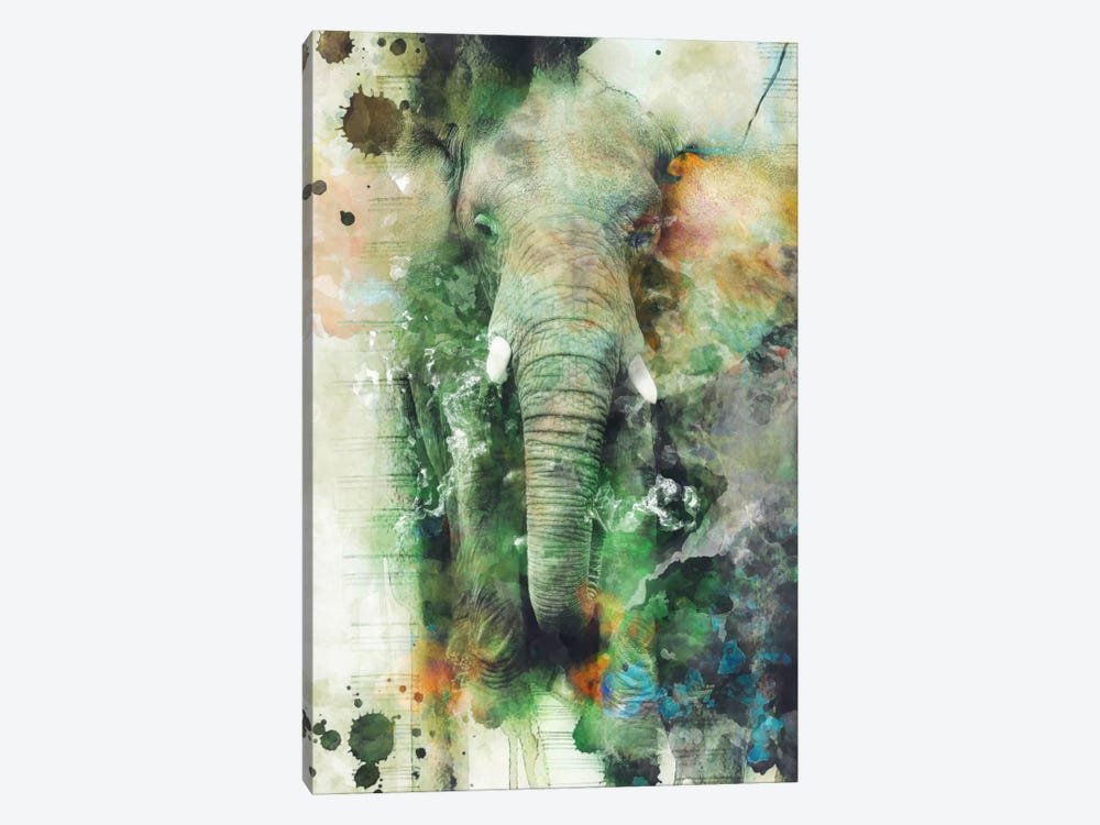 Elephant by Riza Peker 1-piece Canvas Print