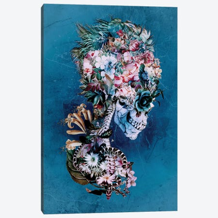 Floral Skull RP Canvas Print #PEK84} by Riza Peker Canvas Print