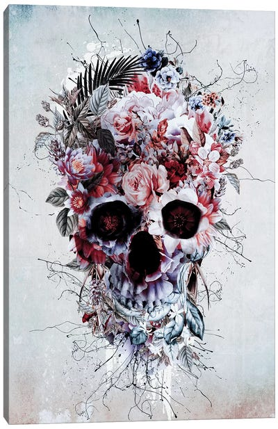 Floral Skull RPE Canvas Art Print