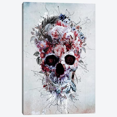 Floral Skull RPE Canvas Print #PEK85} by Riza Peker Canvas Art Print