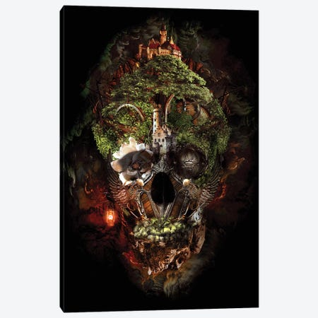Skull Castle I Canvas Print #PEK96} by Riza Peker Canvas Wall Art