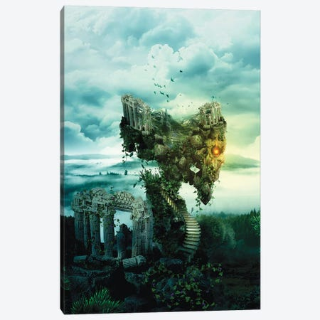 Skull Castle III Canvas Print #PEK98} by Riza Peker Canvas Art Print