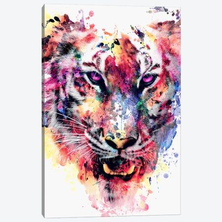 Eye Of The Tiger Canvas Print #PEK9} by Riza Peker Canvas Wall Art
