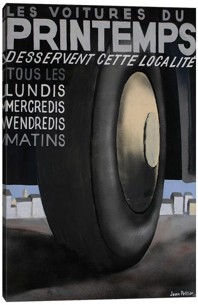 Les Voitures du Printemps Tires, 1935 Canvas Art Print