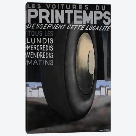 Les Voitures du Printemps Tires, 1935 Canvas Print #PEL1} by Jean Peltier Canvas Print