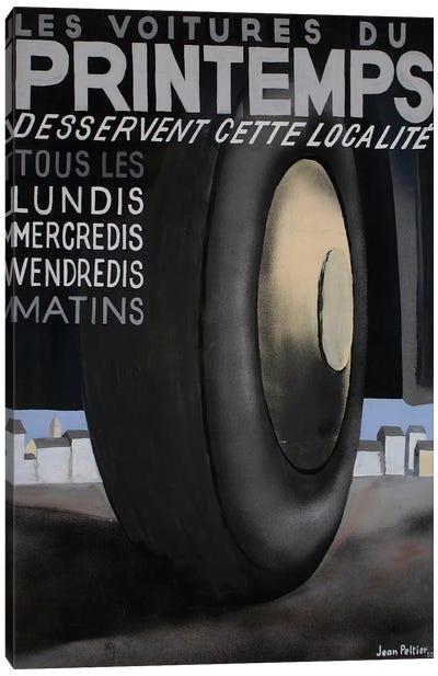 Les Voitures du Printemps Tires, 1935 Canvas Art Print