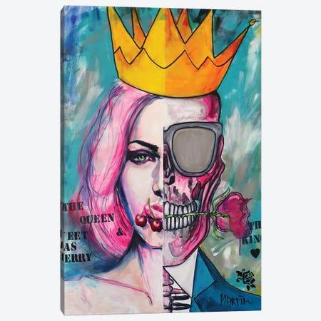 Cherry Kiss Canvas Print #PEM10} by Peter Martin Art Print