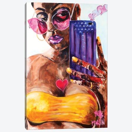 Perfect Selfie Canvas Print #PEM19} by Peter Martin Canvas Print