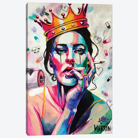 Queen Of Life Canvas Print #PEM22} by Peter Martin Canvas Art
