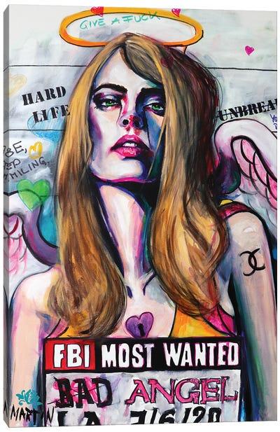 Bad Angel, Sweet Darling Canvas Art Print