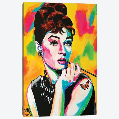 Audrey Hepburn Canvas Print #PEM31} by Peter Martin Art Print