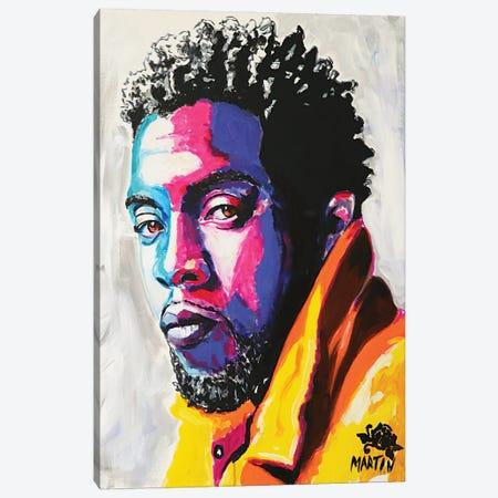 Chadwick Boseman Canvas Print #PEM32} by Peter Martin Art Print