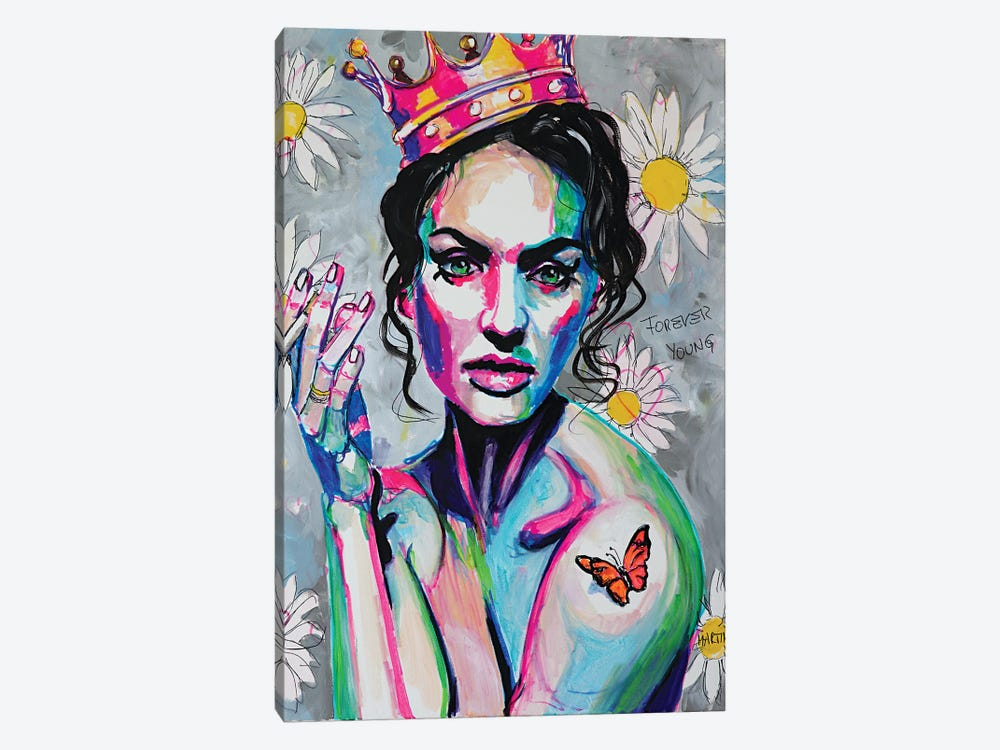 Flower Queen by Peter Martin 1-piece Canvas Print