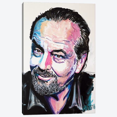 Jack Nicholson Canvas Print #PEM34} by Peter Martin Canvas Artwork