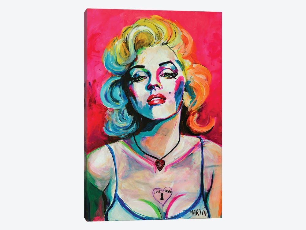 Marilyn Monroe II by Peter Martin 1-piece Canvas Art Print