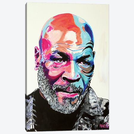 Mike Tyson Canvas Print #PEM39} by Peter Martin Canvas Art Print
