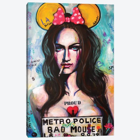 Bad Mouse Canvas Print #PEM3} by Peter Martin Canvas Wall Art
