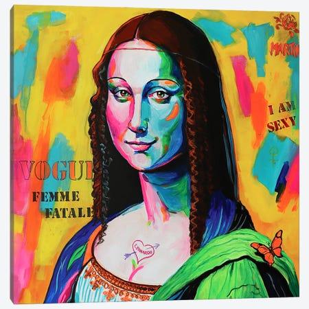 Mona Lisa Canvas Print #PEM40} by Peter Martin Canvas Wall Art