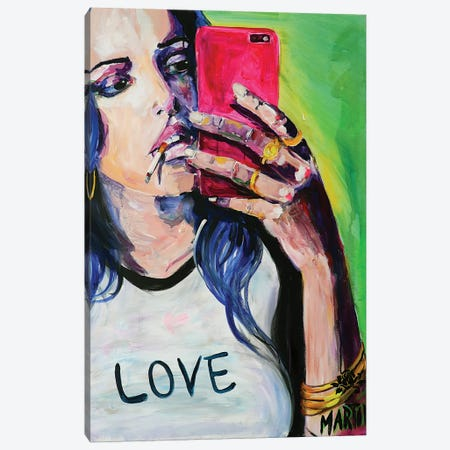 Selfie Queen Canvas Print #PEM44} by Peter Martin Canvas Print