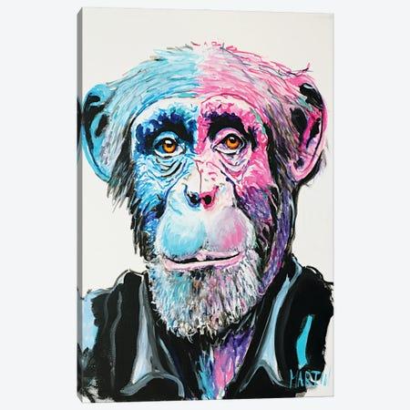 Chimpanzee Canvas Print #PEM45} by Peter Martin Art Print