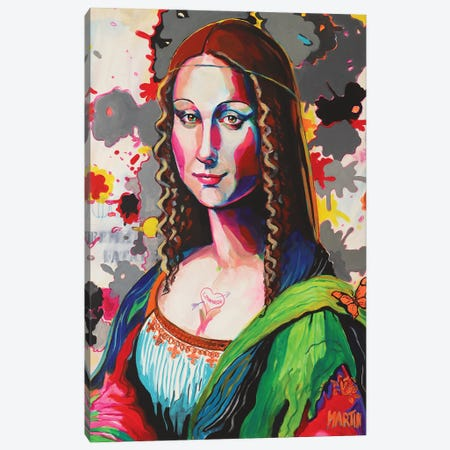 Mona Lisa II Canvas Print #PEM54} by Peter Martin Canvas Wall Art