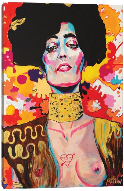 Judith Hommage To Gustav Klimt Canvas Art Print
