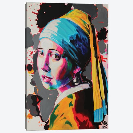 Girl With Pearl Earring Canvas Print #PEM56} by Peter Martin Canvas Artwork