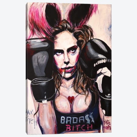 Badass Bitch Canvas Print #PEM5} by Peter Martin Canvas Print