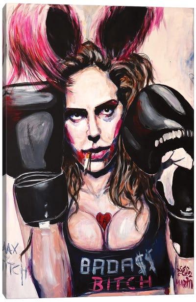 Badass Bitch Canvas Art Print