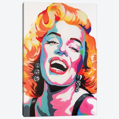 Marilyn Monroe Pop Art Canvas Print #PEM63} by Peter Martin Canvas Wall Art