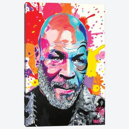 Mike Tyson Pop Art Canvas Print #PEM64} by Peter Martin Art Print