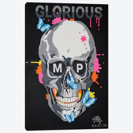 Glorious MP Skull Canvas Print #PEM72} by Peter Martin Canvas Print
